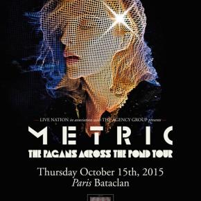 Concours // 1 x 2 places à gagner pour le concert de Metric au Bataclan le 15 octobre 2015